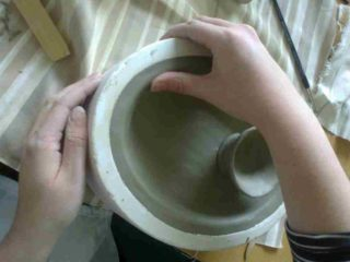 refining-clay-in-a-mould